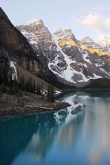 Moraine Lake and Rocky Mountains in Banff National Park, Alberta, Canada